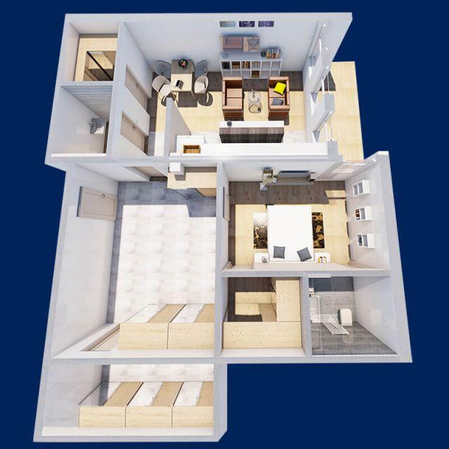 apartamente cu 2 camere ├оn sebes 1