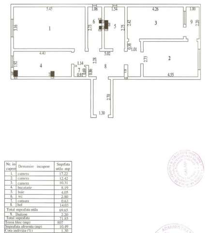 vand 3 camere decomandate galati micro 20 1