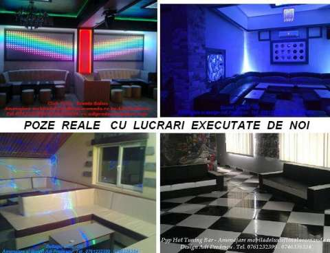 lumini club led rgb pixeli . canapele club 4
