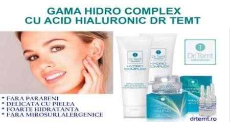 ser facial hidro complex cu doua tipuri de molecule de acid hialuronic dr. temt 2