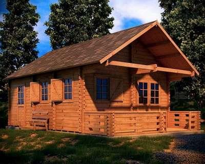 casa din lemn - weekend 4. 5 m 1
