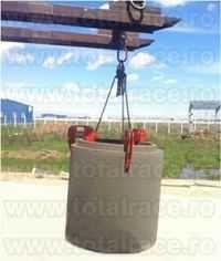 ridicari cu clesti pentru tuburi din beton 2
