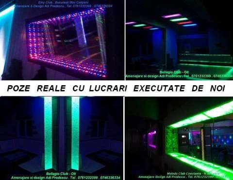 lumini club led rgb pixeli . canapele club 8
