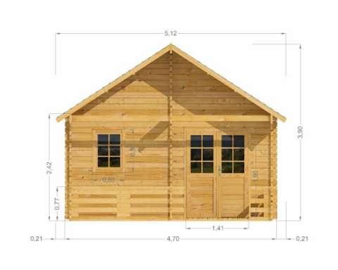 casa din lemn - weekend 4. 5 m 4
