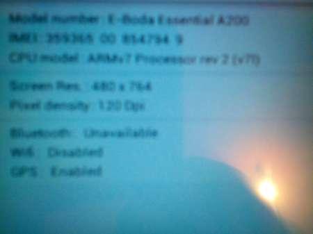 "tableta pc android 4. 1. 1 eboda essential a 200 ecran 7"" 7"