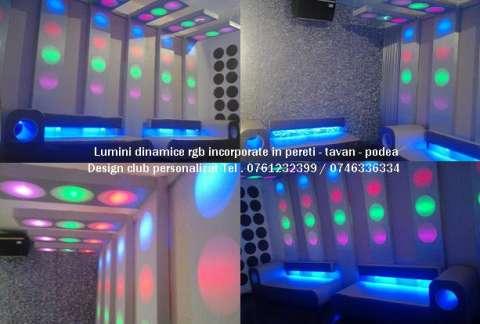 lumini club led rgb pixeli . canapele club 2